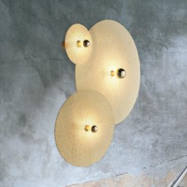 Round Rattan Wall Light