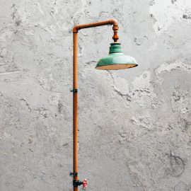 Rust Pipe Wall Light
