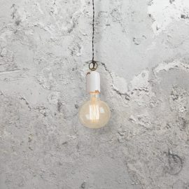 Rusted White Metal Pendant Light