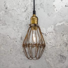Rustic Cage Pendant Light