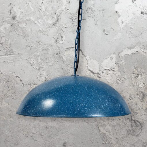 Rustic Distressed Blue Pendant Light