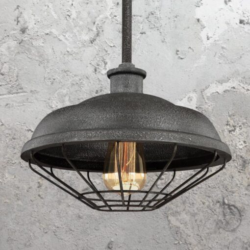 Rustic Grey Cage Pendant Light