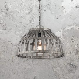 Rustic Iron Cage Pendant Light