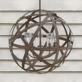Rustic Outdoor Orb Chandelier