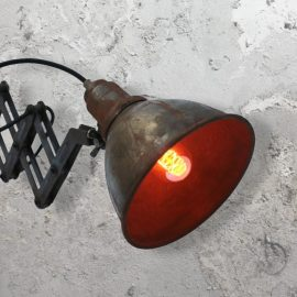 Rustic Scissor Wall Light