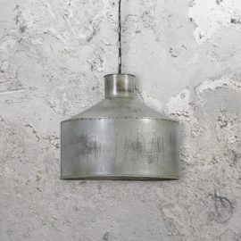 Rustic Silver Pendant Light,rustic bucket light