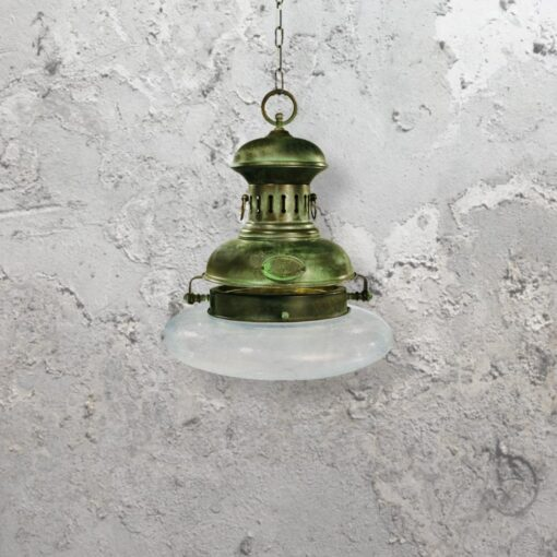 Rustic Verdigris Pendant Light