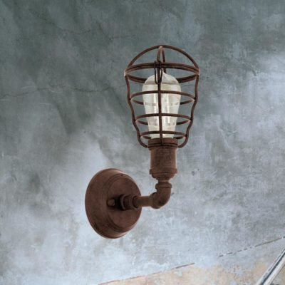 Rusty Cage Wall Light