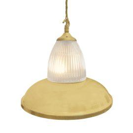 Satin Brass Glass Pendant Light,Industrial Traditional Glass Pendant Light