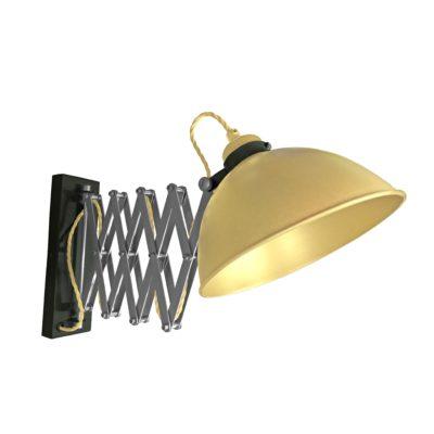 Satin Brass Scissor Arm Wall Light Black Two Tone