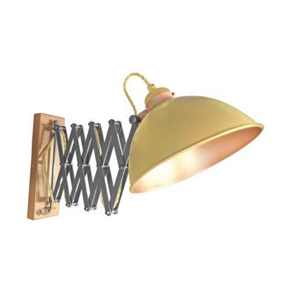 Satin Brass Scissor Arm Wall Light Copper Inner