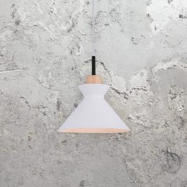 Scandinavian White Cone Pendant Light
