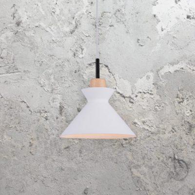 Scandinavian White Cone Pendant Light