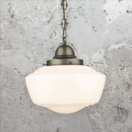 Opal Glass Schoolhouse Pendant Light