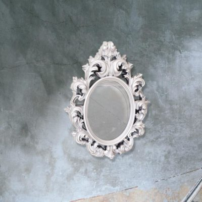 traditional silver decorative wall mirror