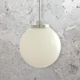 Silver Globe Pendant Light