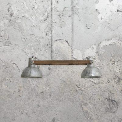 2 light silver industrialspotlightspendant