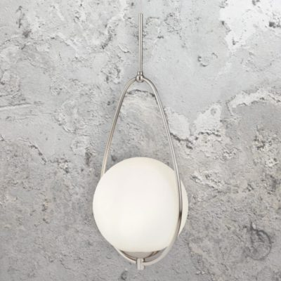 Silver Opal Pendant Light