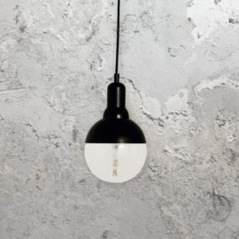 Small Matt Black Globe Pendant Light