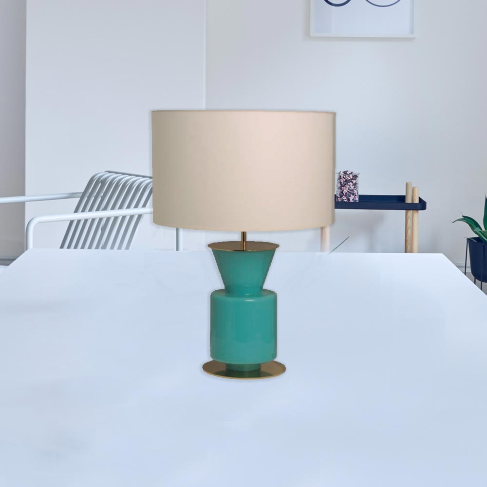 Small glass table lamps - Small Coloured Glass Table Lamp Cl 33975