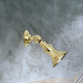 directional small traditional brass spotlight