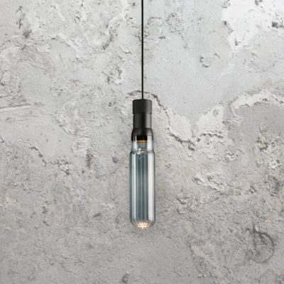 Smoked Glass Tube Pendant Light
