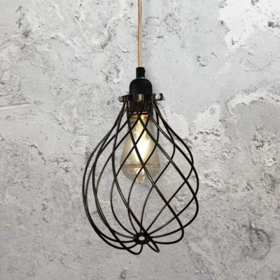 Spiral Cage Pendant Light CLB-00548-Copper