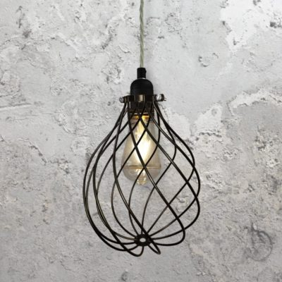 Spiral Cage Pendant Light CLB-00548-Elephant-Grey