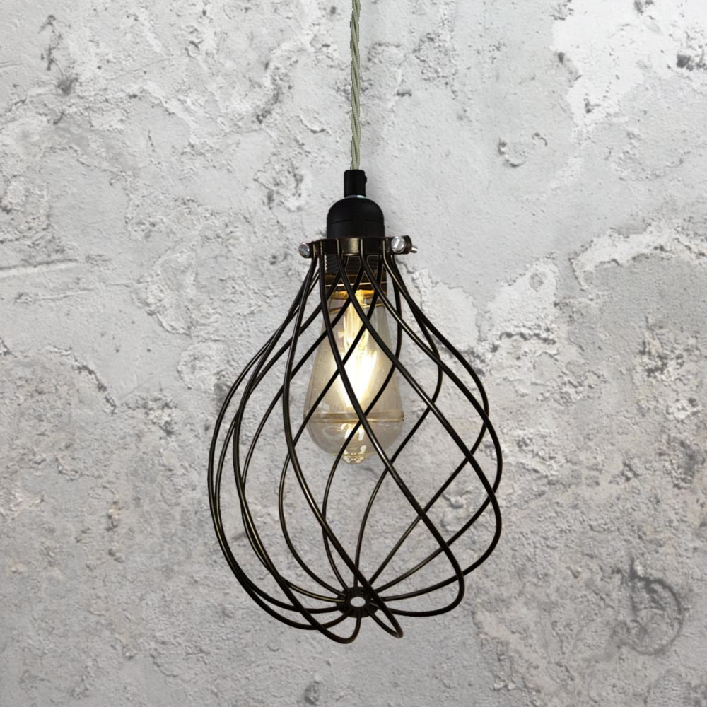 Spiral Cage Pendant Light CLB-00548 | E2 Contract Lighting | UK