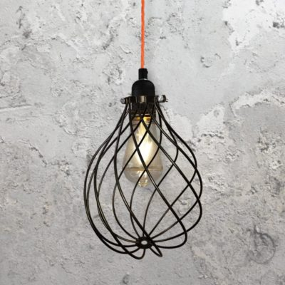 Spiral Cage Pendant Light CLB-00548-Fluorescent-Pink