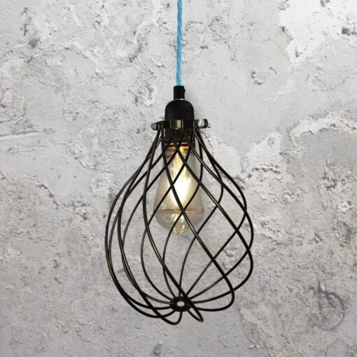 Spiral Cage Pendant Light CLB-00548-Light-Blue