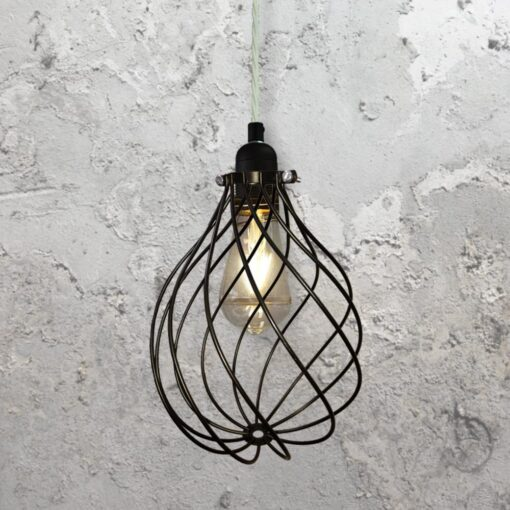 Spiral Cage Pendant Light CLB-00548-White-Twisted