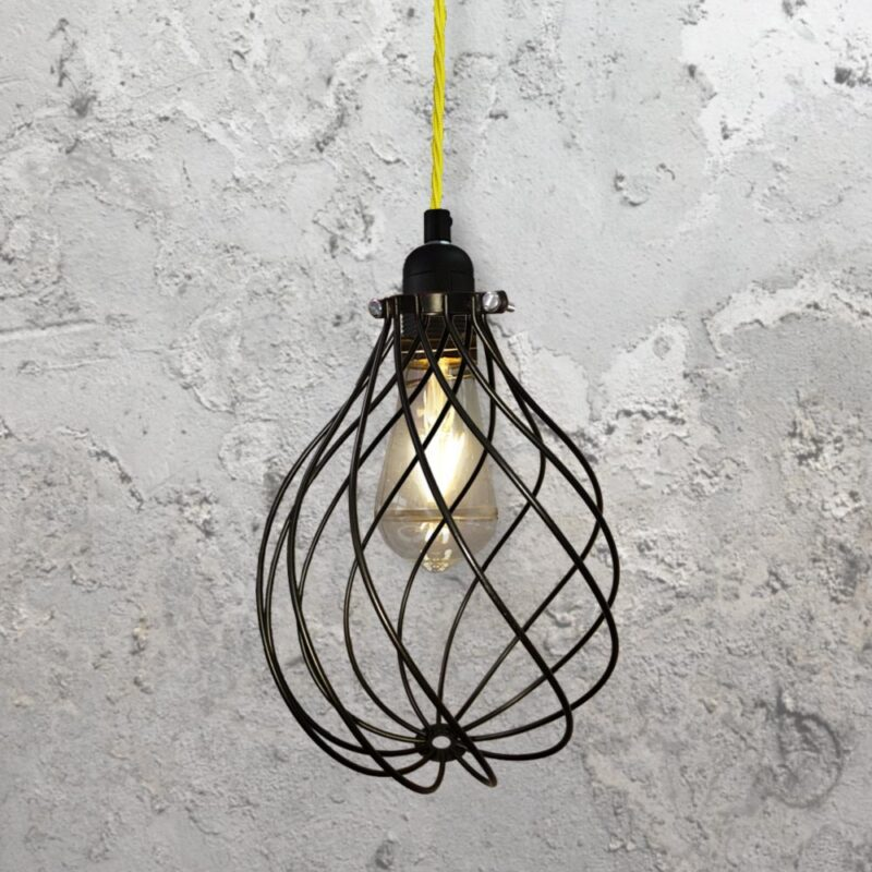Spiral Cage Pendant Light CLB-00548-Yellow