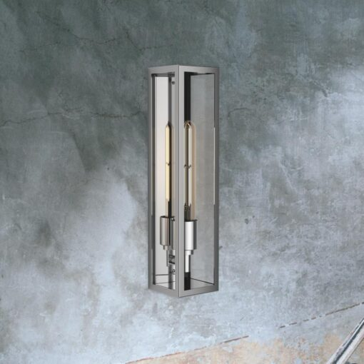 Steel Elongated Outdoor Wall Light