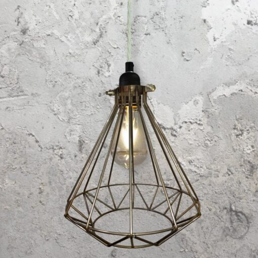 Steel Geometric Cage Pendant Light CLB-00549-White