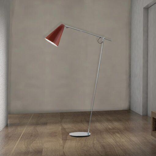 Modern Adjustable Chrome Floor Lamp,chrome finish adjustable arm floor lamp,chrome adjustable floor lamp