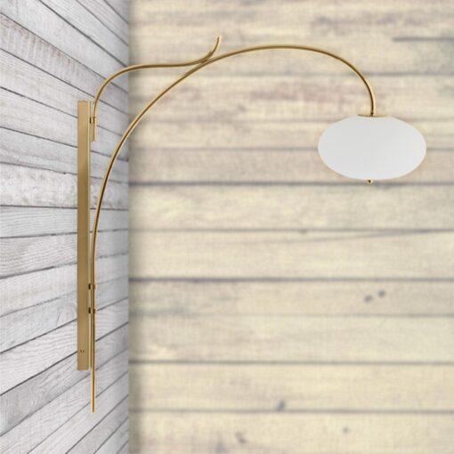 Tall Polished Brass Arch Wall Light