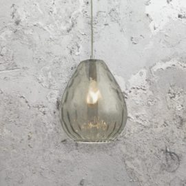 Teardrop Smoked Glass Pendant Light