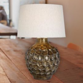 Textured Antique Bronze Table Lamp