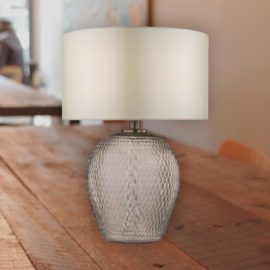 Textured Cut Glass Table Lamp Base