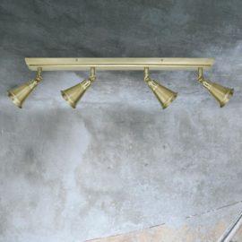 Traditional Brass 4 Light Spotlight Bar