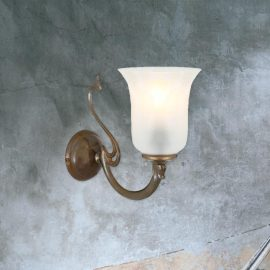 one light traditional brass wall sconce fitting