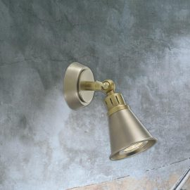Traditional Chrome Brass Spotlight