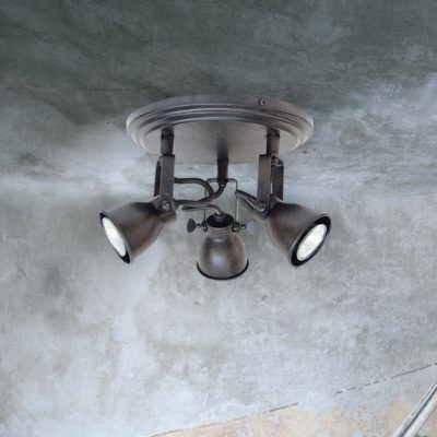 Triple Brown Ceiling Spotlight