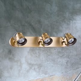 Triple Brushed Brass Spotlight