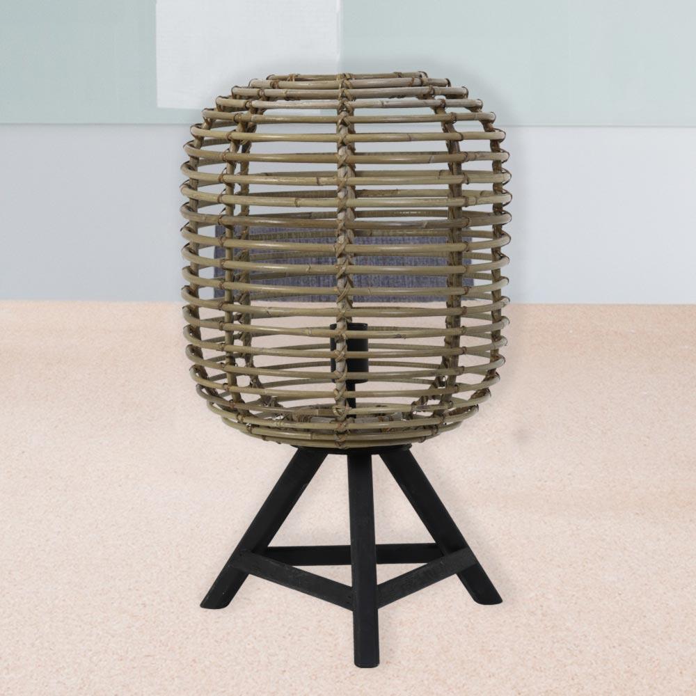 Vintage Tripod Rattan Table Lamp Cl 36087 E2 Contract