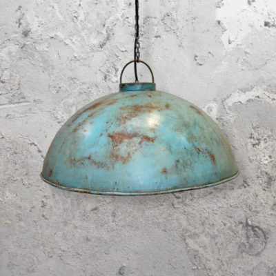 Turquoise Rust Pendant Light