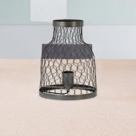 Industrial Twisted Wire Cage Table Lamp,Metal Wire Table Lamp