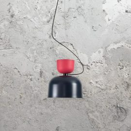 Two Tone Scandinavian Pendant Light,black and red contemporary Scandinavian style pendant