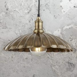 Antique Brass Umbrella Pendant Light